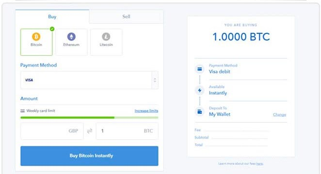 Coinbase sign up screenshot