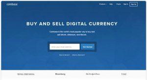 Coinbase sign up screenshot