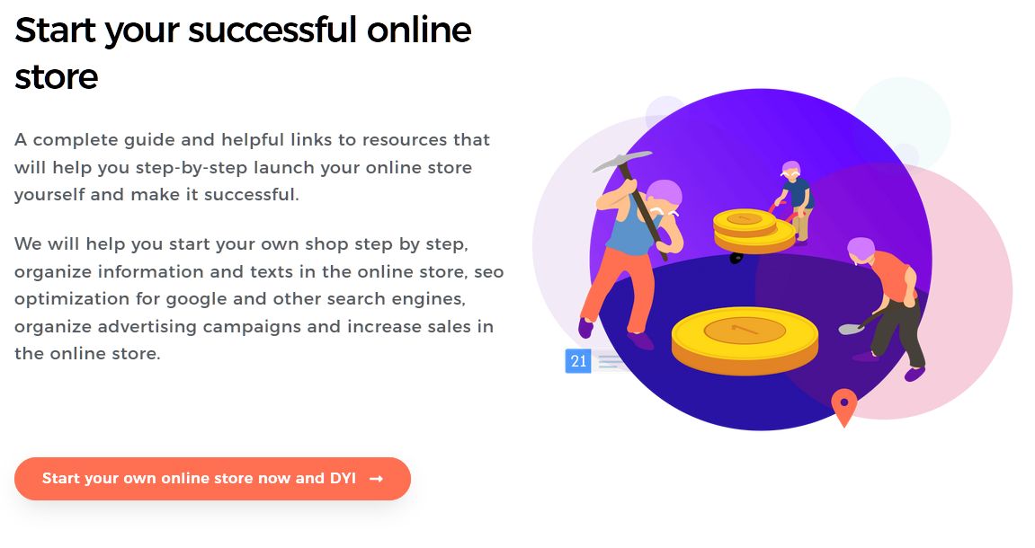 Start your successful online store - DIY